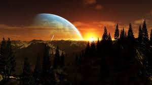 abstract planet wallpapers planet beyond horizon widescreen wallpaper wide wallpapers net