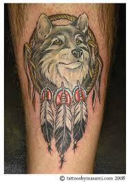 beautiful wolf and catcher design tattoomagz