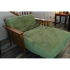 amazon com lifestyle covers black full size futon cover home