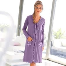 robe de chambre femme coton peignoirs robes de chambre femme blancheporte