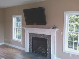 fireplace how to install tv over fireplace decorations ideas