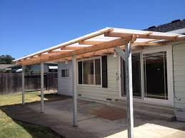 exterior simple wood awning with 4 columns as front porch in