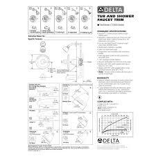 Delta Faucet Instructions Delta Faucet T13420 Pd Classic Polished Chrome One Handle Tub