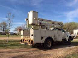 Utility Bed For Sale 1997 Ford F700 Bucket Truck Cummins Diesel Utility Bed For Sale