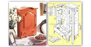 table top jewelry armoire plans u2022 woodarchivist