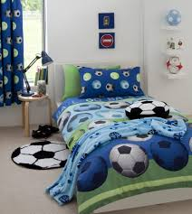 childrens boys football friends duvet cover quilt bedding set