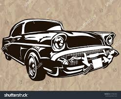 Classic American Muscle Cars - vector illustration american muscle car stock vector 412381960