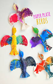 colorful paper plate birds and our favorite bird books bird