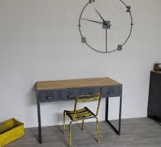 bureau stylé bureau industriel à tiroirs en métal fabrication française