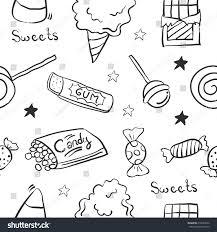 sketch sweet candy doodle stock vector 612094076 shutterstock