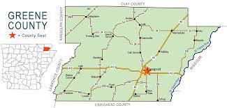 map of arkansas greene county map encyclopedia of arkansas