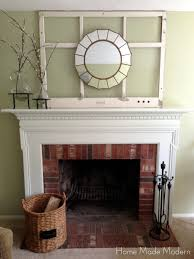 painted fireplace mantel finally home made modern