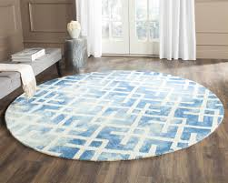 7 Round Area Rug Watercolor Area Rugs Dip Dye Collection By Safavieh