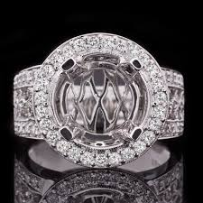 10mm diamond 10mm 11mm setting diamond halo semi mount filigree