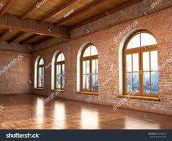 loft studio interior old house big stock illustration 414758455