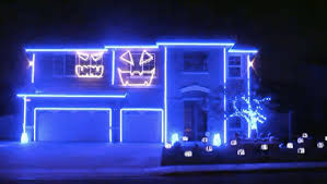 watch the craziest led halloween light show you u0027ll see all year