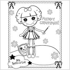 free lalaloopsy christmas coloring page christmas coloring