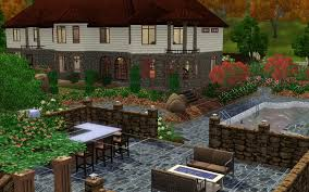 Sims 3 Garden Ideas Sims 3 Backyard Designs Outdoor Furniture Design And Ideas