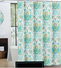 Turquoise Paisley Curtains Amazon Com Cynthia Rowley Ischia Paisley Fabric Shower Curtain In