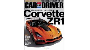 2018 chevy corvette zr1 leaked on car and driver cover autoblog