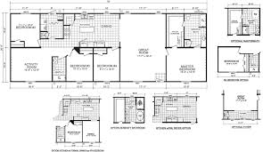 Floor Plans For Mobile Homes Double Wide Elkhart 28 X 76 2036 Sqft Mobile Home Factory Expo Home Centers