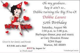 Betty Boop Bathroom Accessories Uk by Betty Boop 50th Theme Birthday Each Invitation