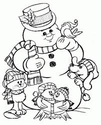 the amazing free snowman coloring pages regarding inspire in