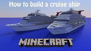 how to build a cruise ship in minecraft part 12 decks 1 and 2