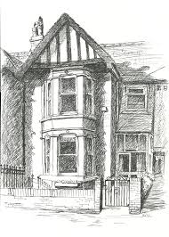 victorian house drawing sketch