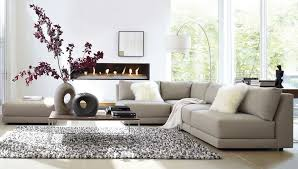 furniture l shape modern grey sofas for living room with white