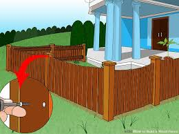 how to build a wood fence with pictures wikihow