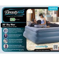 simmons beautyrest queen sky rise raised pillowtop air bed