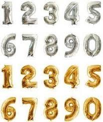 number balloons delivered 16 inch silver golden 2014 digital 0 9 figure number balloons foil
