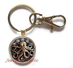 fashion key rings images Charming fashion keychain steampunk octopus jpg