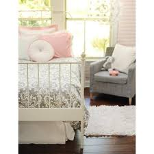 Pink And Gray Crib Bedding Baby Crib Bedding And Boutique