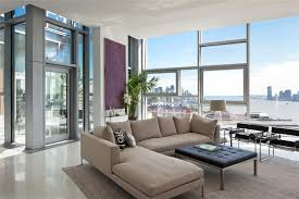 Windows To The Floor Ideas Sophisticated Grey Fabric Sectional Sofas With Chaise Lounge As