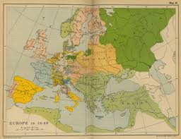 Eastern Europe Political Map by Of Europe In 1648