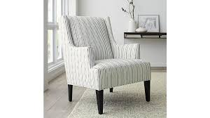 Decor Chairs Patrice Striped Wingback Chair Crate And Barrel