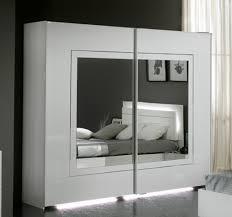 armoire chambre armoire 2 portes coulissantes city laque blanc chambre à coucher