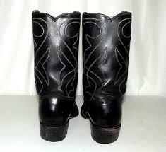 womens black cowboy boots size 9 vintage rockabilly wear black cowboy boots mens size 9 d