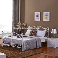 5ft king size nickel iron metal bed chrome plated crystal modern