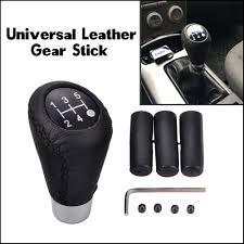 leather black stitch manual car truck 5 speed gear stick shift