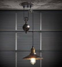 Pulley Pendant Light Kitchen Rise Fall Pulley Pendant Lights Edison Pendant L