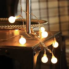 battery operated 40 led lights globe string lights for