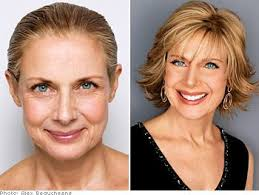 haircuts hide jowls the right cut for your face instant lifts short cuts and blue eyes