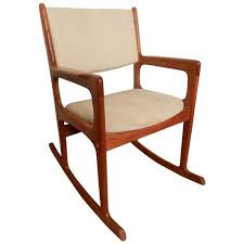 vintage mid century modern rocking chair by benny linden for sale