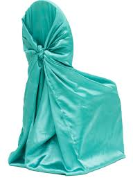 cheap universal chair covers universal satin self tie chair cover light turquoise at cv linens