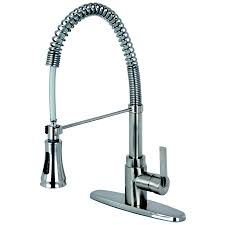 Satin Nickel Kitchen Faucet by Shop Kingston Brass Continental Satin Nickel 1 Handle Deck Mount