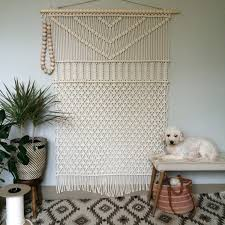 macrame wall hanging forest