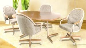 kitchen table and chairs with casters table and chairs with casters great leather dining chairs with